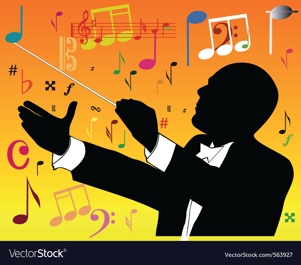 Music conductor vector | Price: 1 Credit (USD $1)
