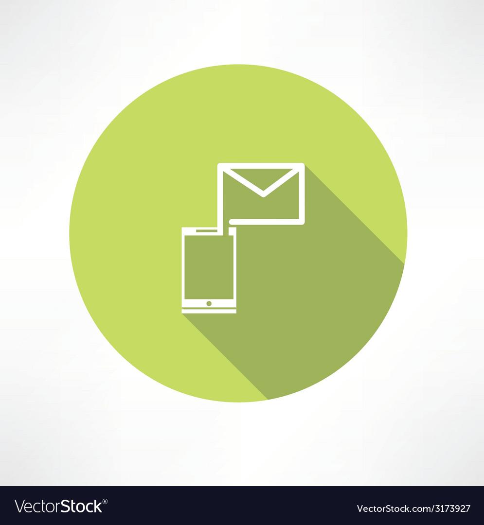 Smartphone e-mail icon vector | Price: 1 Credit (USD $1)