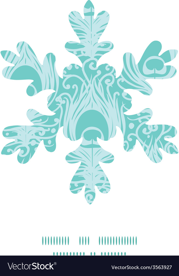 Soft peacock feathers christmas snowflake vector | Price: 1 Credit (USD $1)