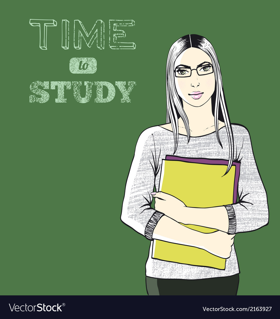 Time to study background vector | Price: 1 Credit (USD $1)