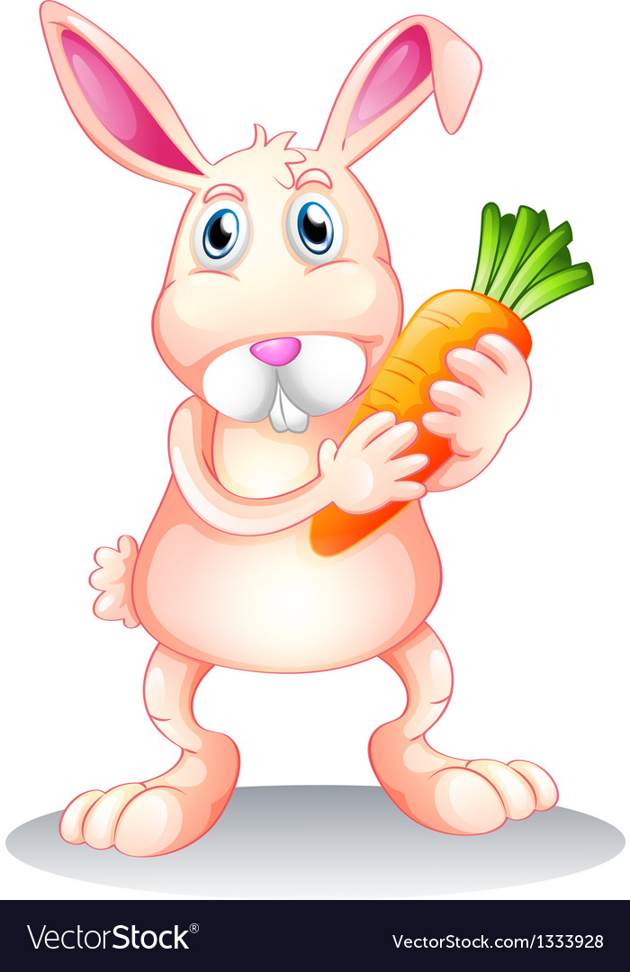 A fat bunny holding a carrot vector | Price: 1 Credit (USD $1)