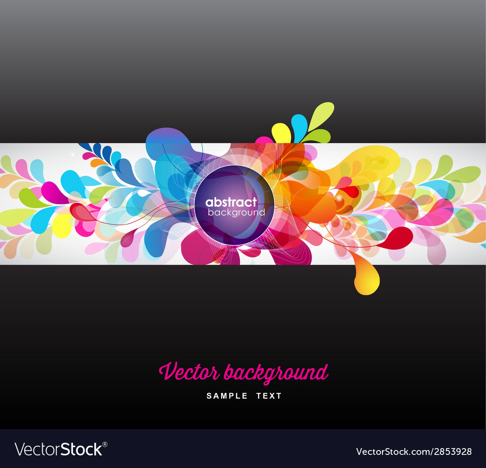 Abstract colored background with circles vector | Price: 1 Credit (USD $1)