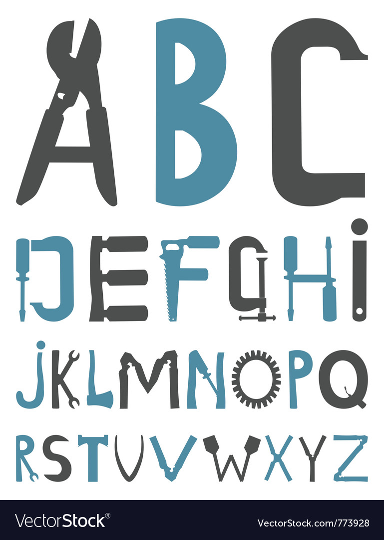 Alphabet tools vector | Price: 1 Credit (USD $1)