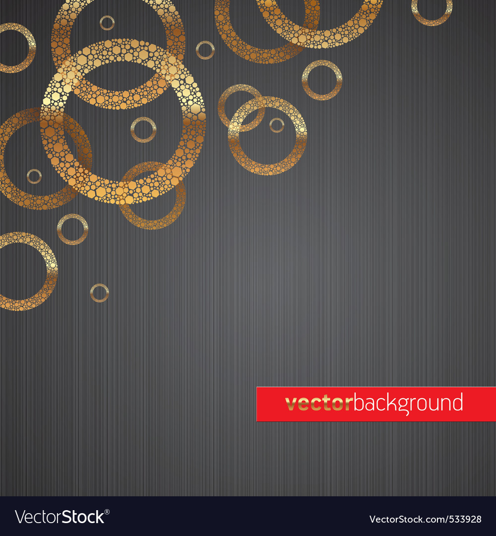 Background with golden circles vector | Price: 1 Credit (USD $1)