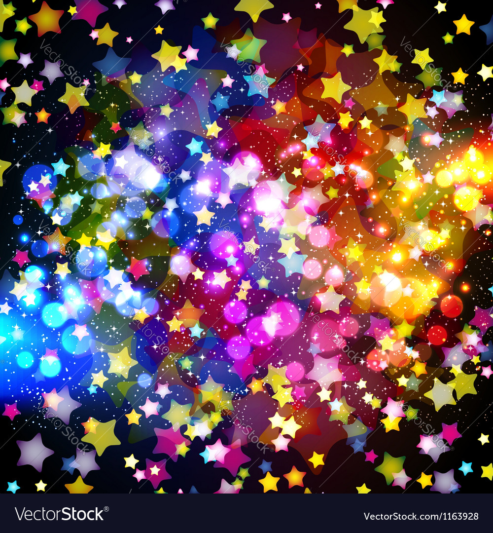 Bright colorful flying stars vector | Price: 1 Credit (USD $1)