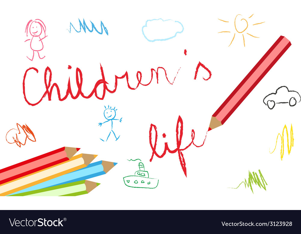 Childrens lives background vector | Price: 1 Credit (USD $1)