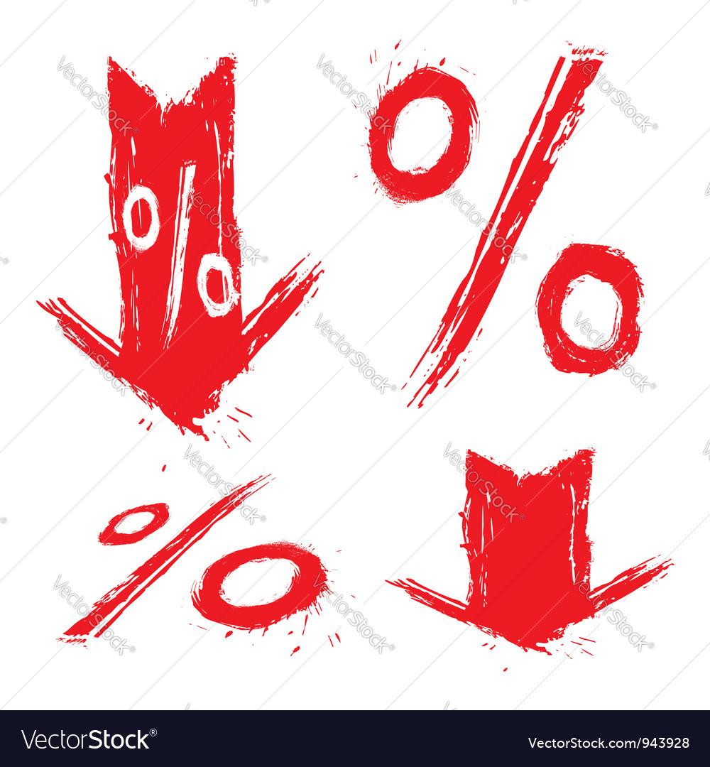 Discount symbols vector | Price: 1 Credit (USD $1)