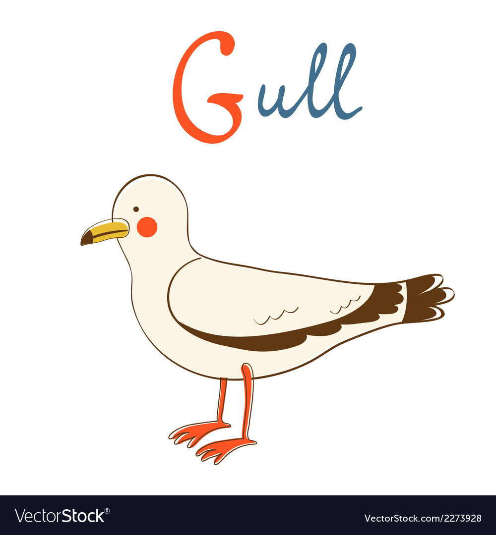 G is for gull vector | Price: 1 Credit (USD $1)