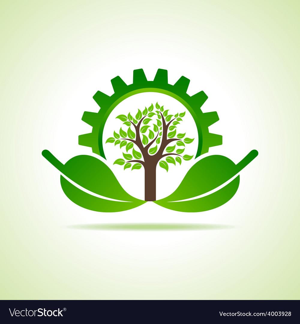 Green energy part icon design concept vector | Price: 1 Credit (USD $1)