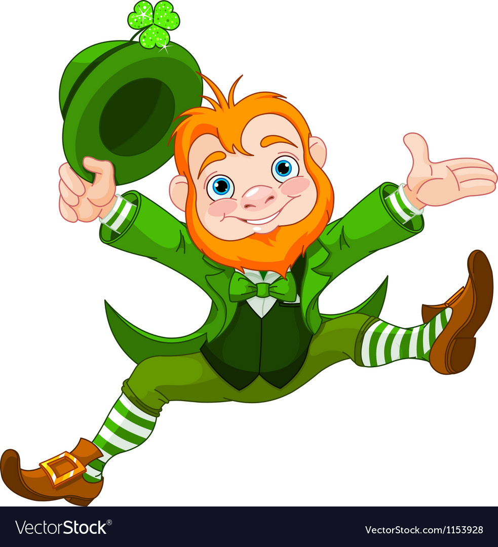 Happy leprechaun vector