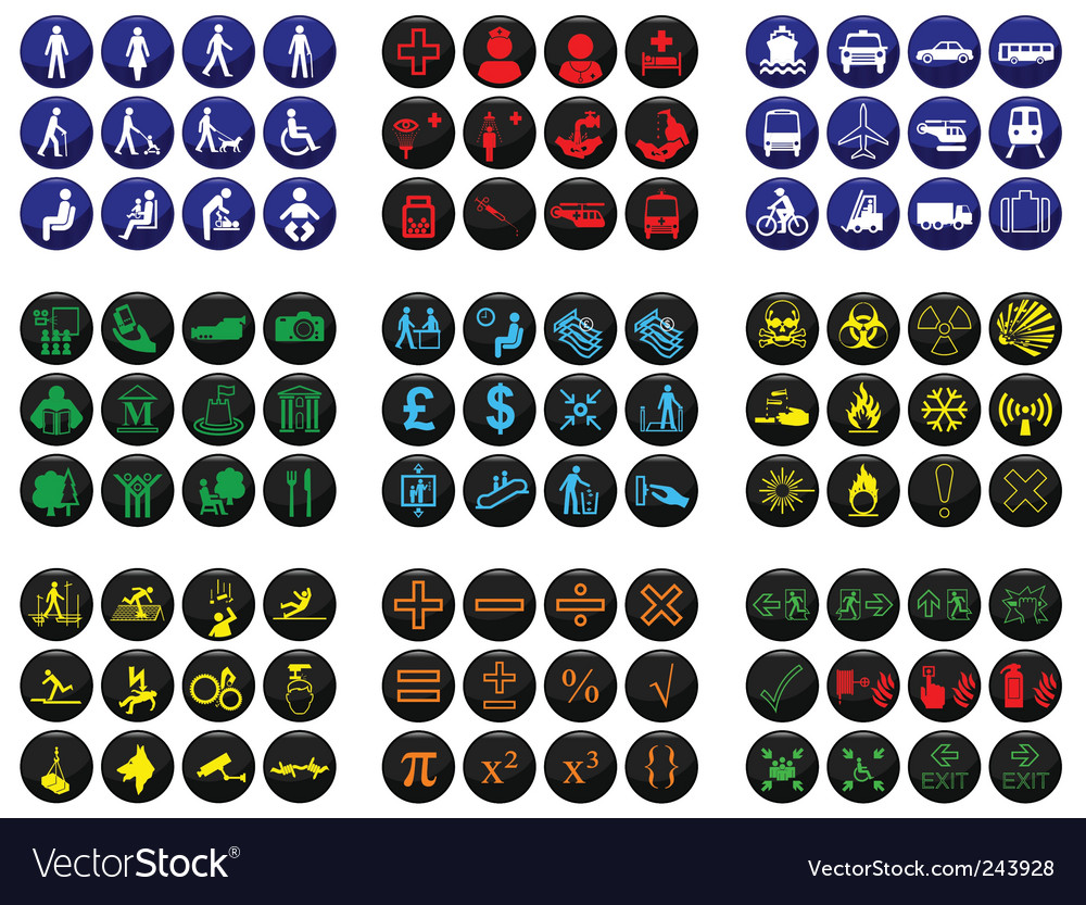 Icon collection vector | Price: 1 Credit (USD $1)