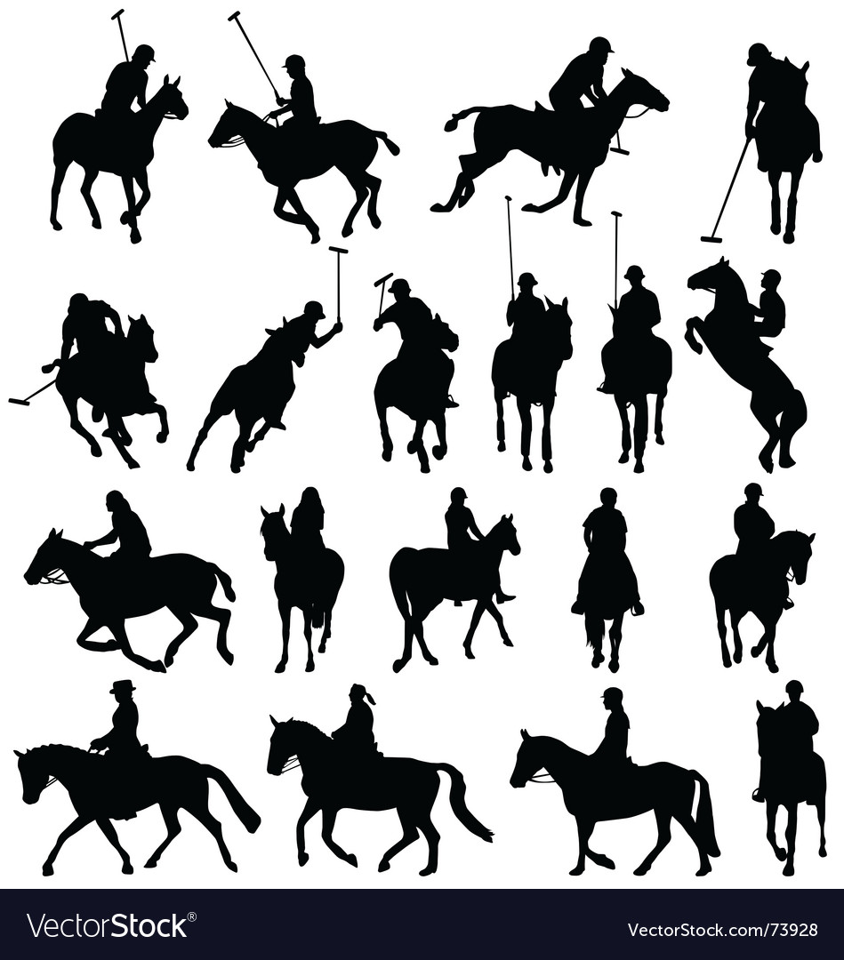 Polo silhouettes vector | Price: 1 Credit (USD $1)