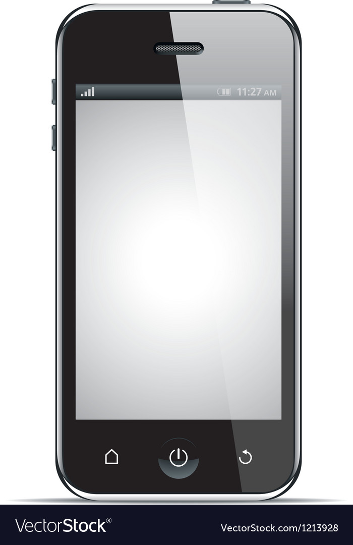 Realistic smart phone vector | Price: 3 Credit (USD $3)