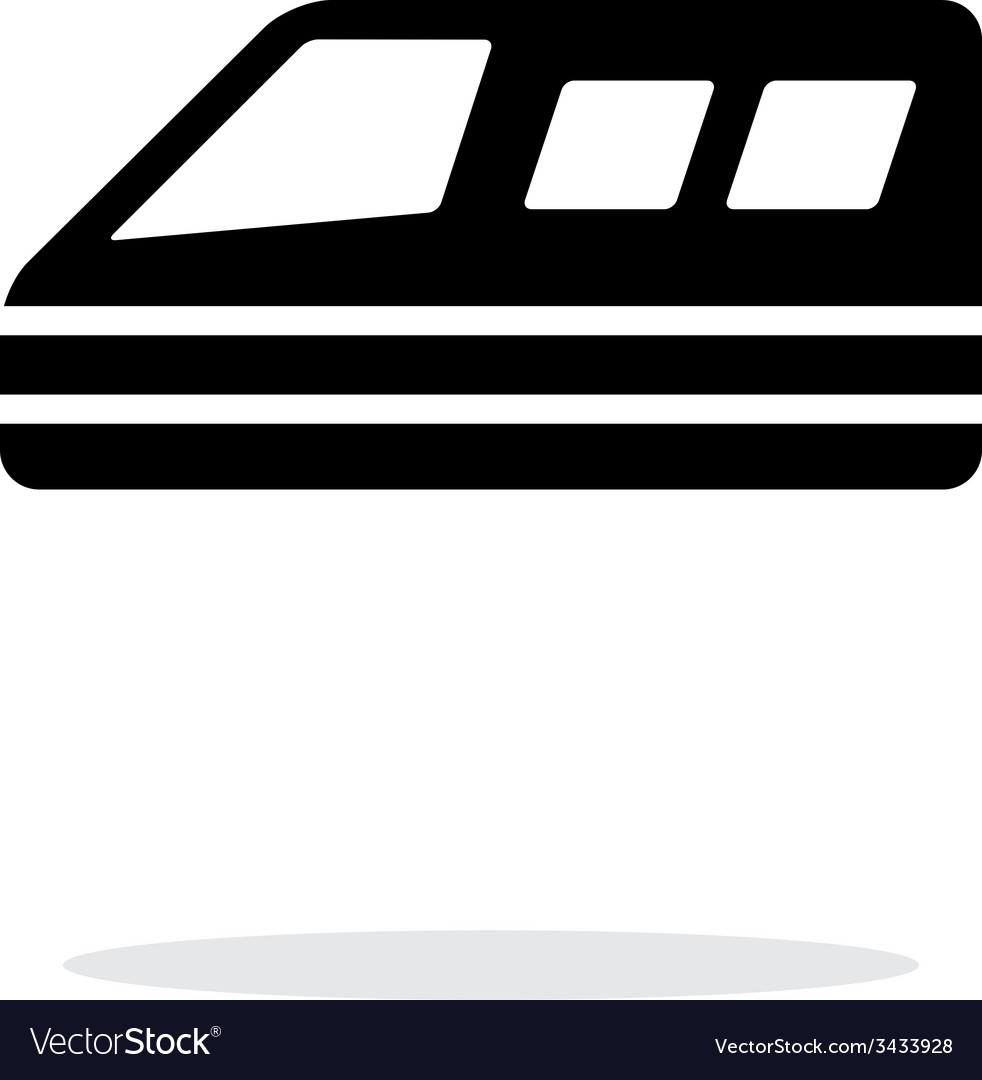 Train simple icon on white background vector | Price: 1 Credit (USD $1)