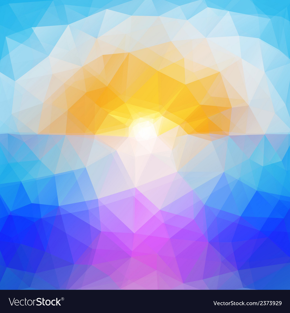 Abstract sunset background triangle design vector | Price: 1 Credit (USD $1)