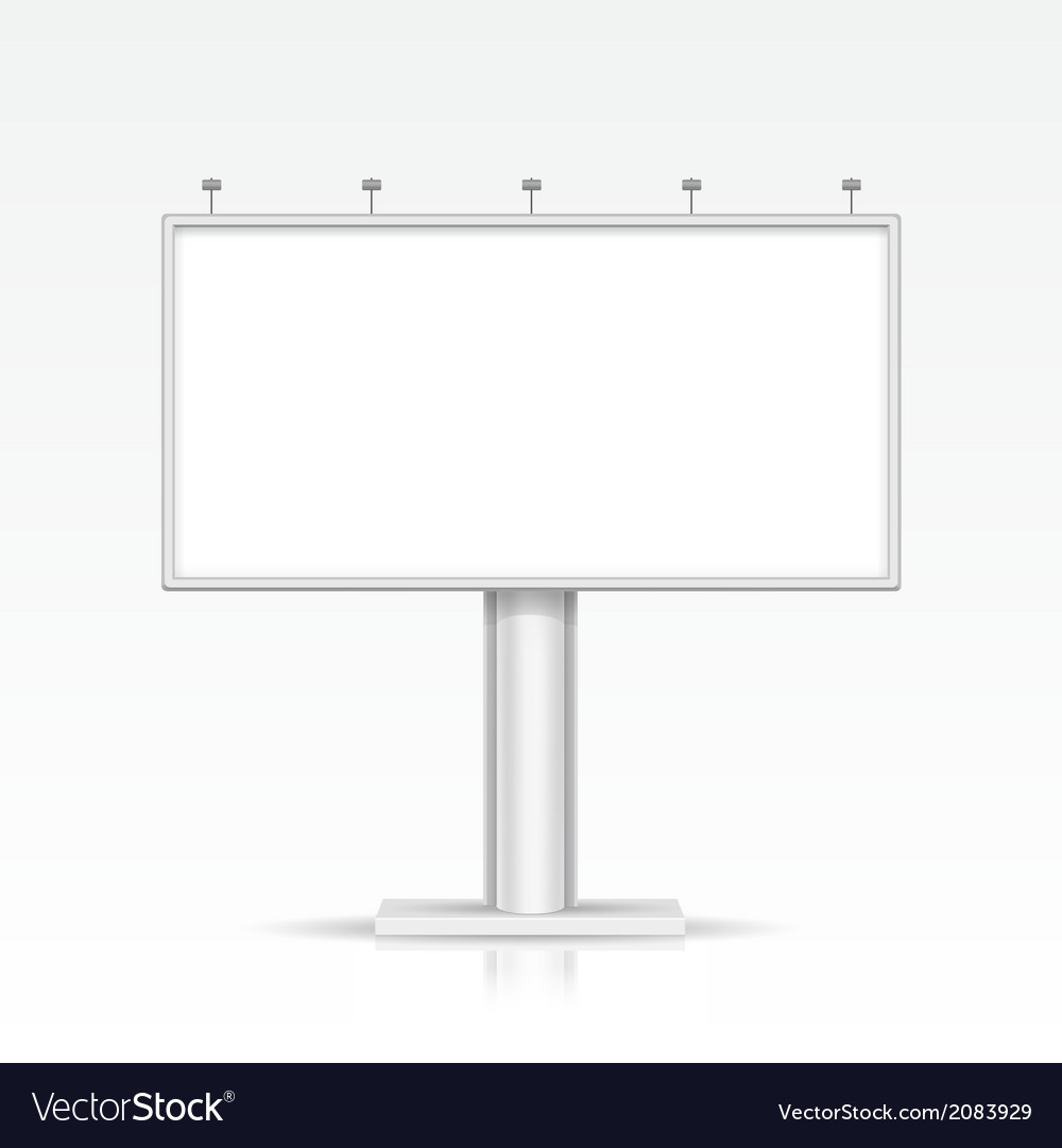 Blank outdoor billboard with place for message and vector   Price: 1 Credit (USD $1)