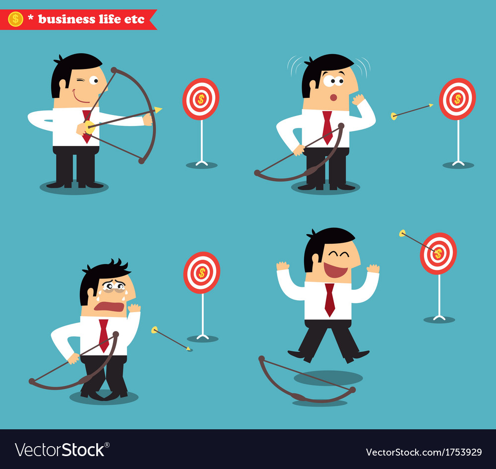 Business goal statuses vector   Price: 1 Credit (USD $1)
