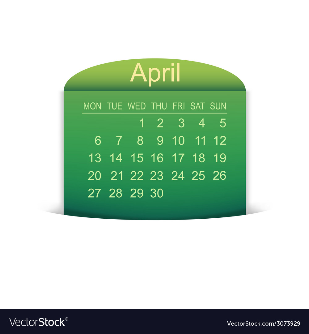 Calendar april 2015 vector | Price: 1 Credit (USD $1)
