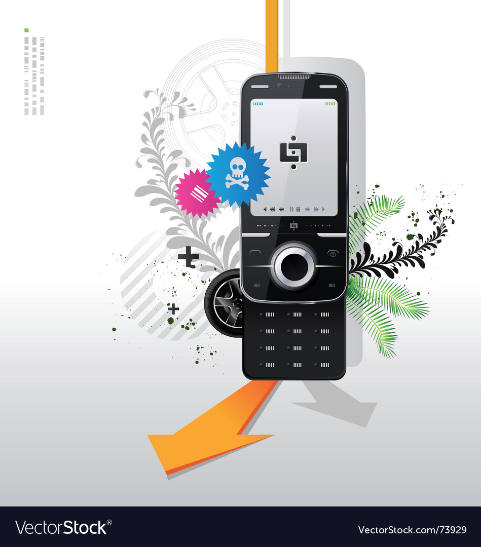 Cellular telephone vector | Price: 3 Credit (USD $3)