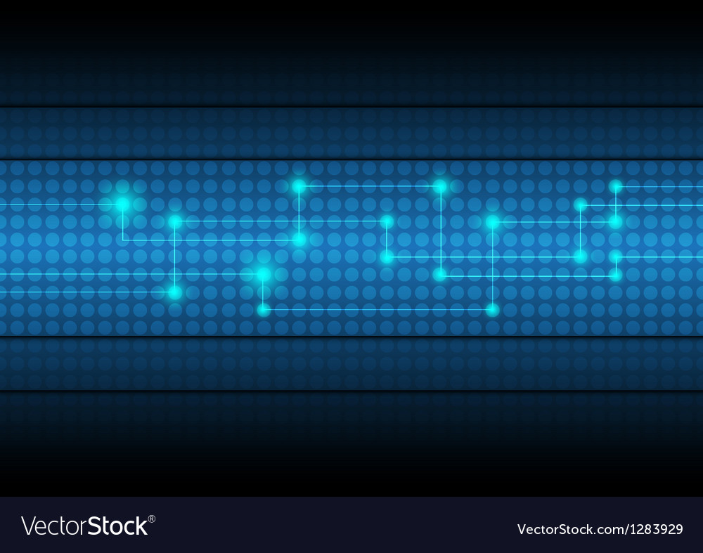 Digital network technology background vector | Price: 1 Credit (USD $1)