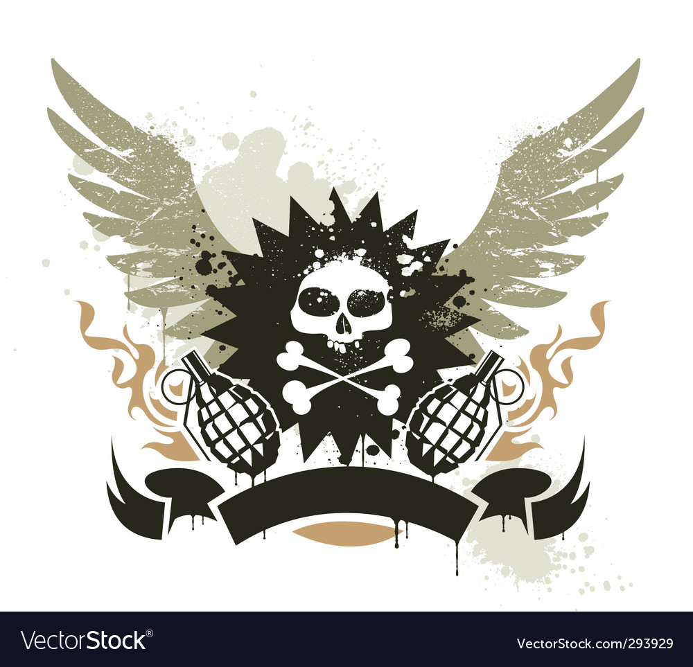 Grunge gang design vector | Price: 1 Credit (USD $1)