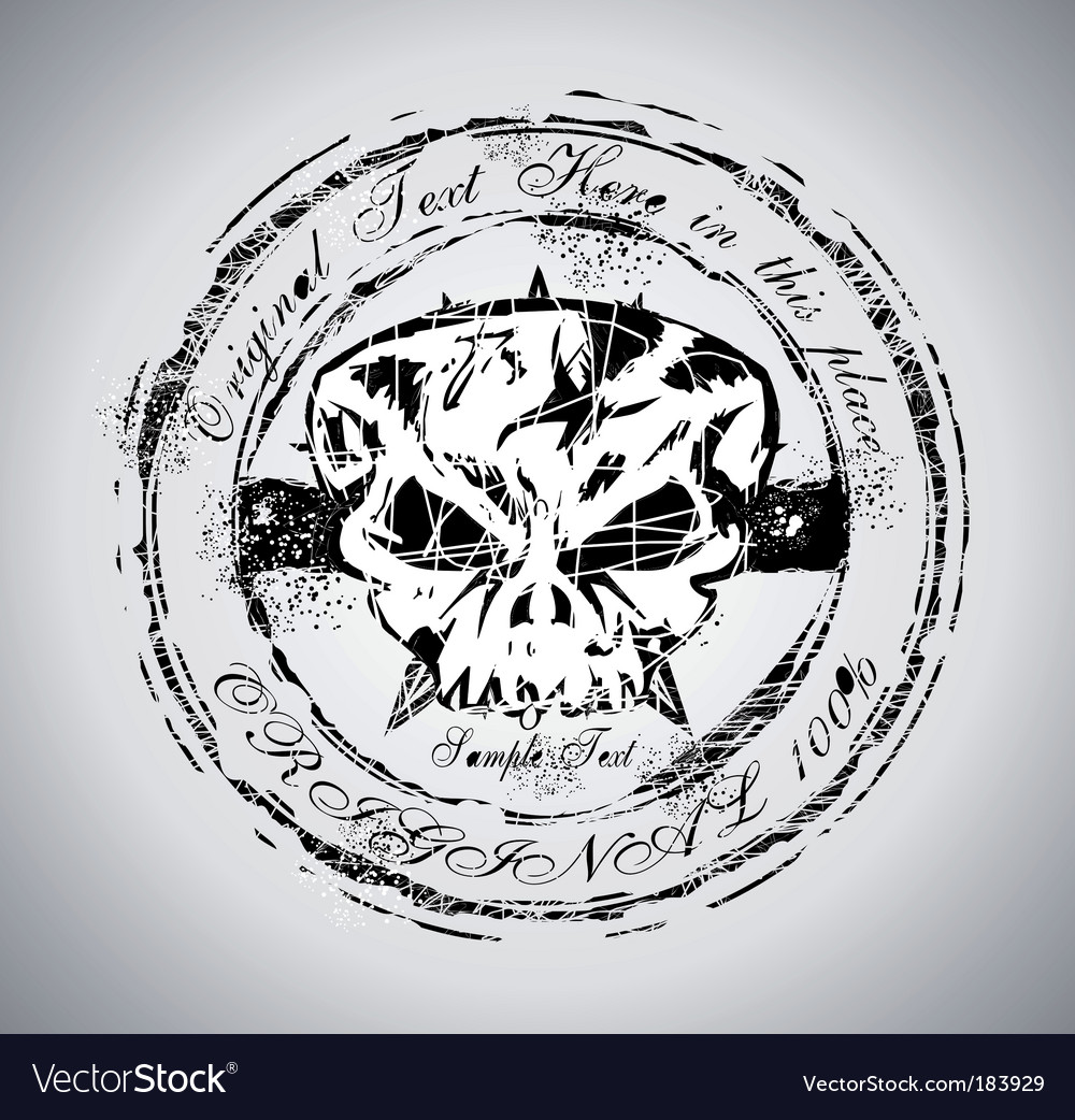 Grunge halloween skull vector | Price: 3 Credit (USD $3)