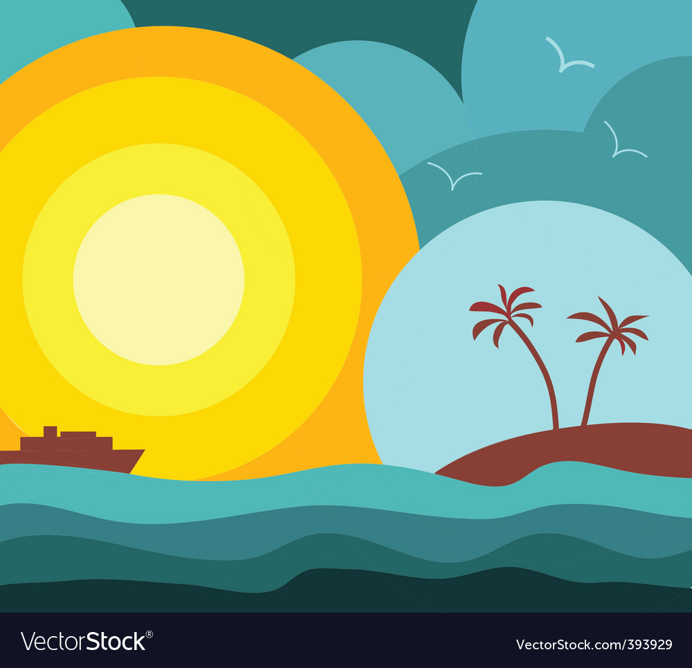 Island vacation vector | Price: 1 Credit (USD $1)