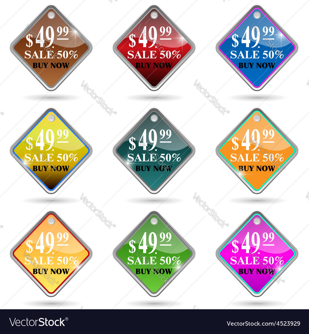 Label information badge shop sticker advertising d vector | Price: 1 Credit (USD $1)