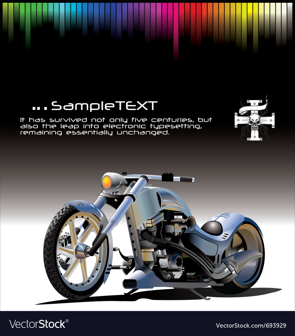Motorcycle background vector | Price: 3 Credit (USD $3)