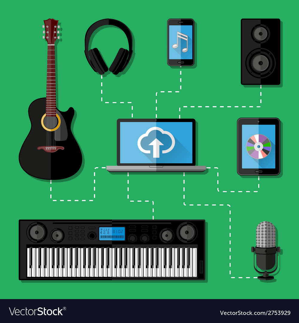 Music recording studio concept vector | Price: 1 Credit (USD $1)