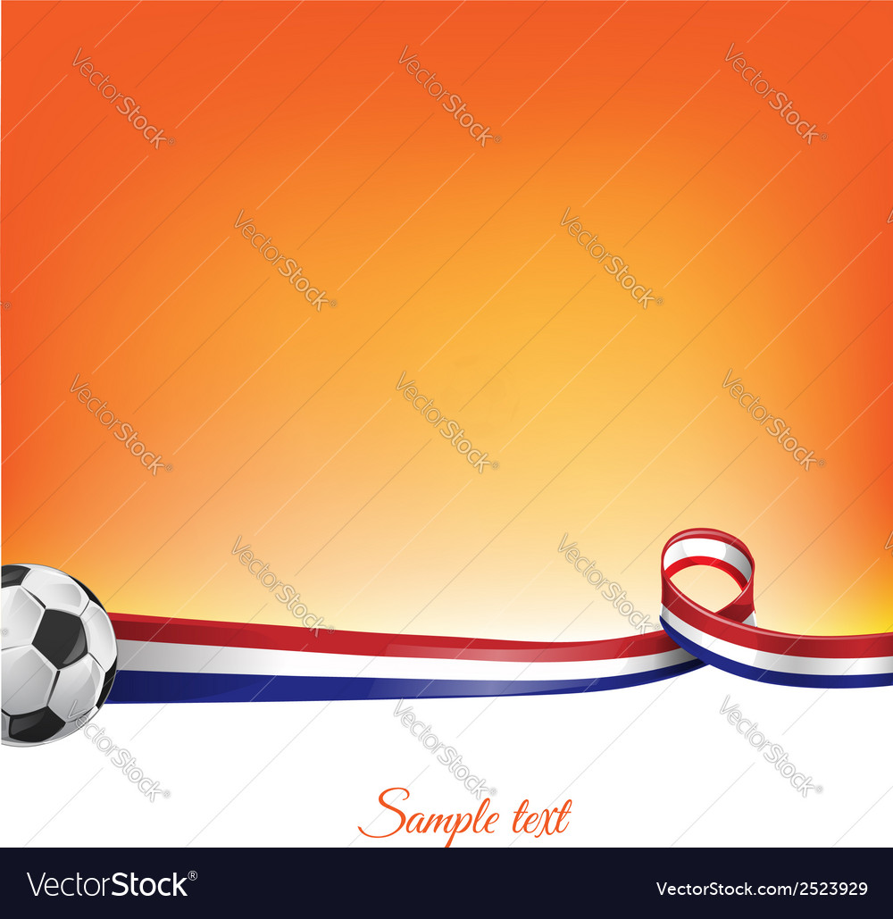 Netherlands background with soccer ball vector | Price: 1 Credit (USD $1)