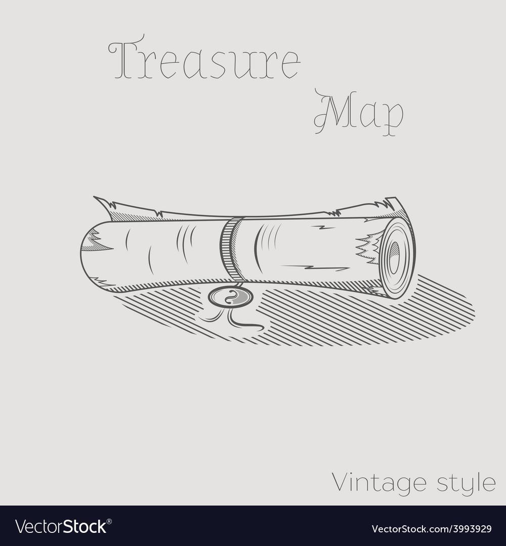 Treasure map vector | Price: 1 Credit (USD $1)