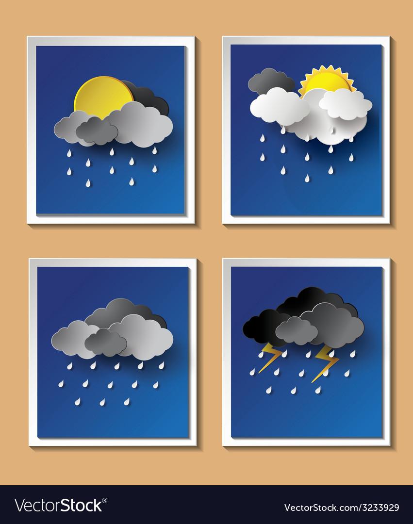 Weather rainning vector | Price: 1 Credit (USD $1)