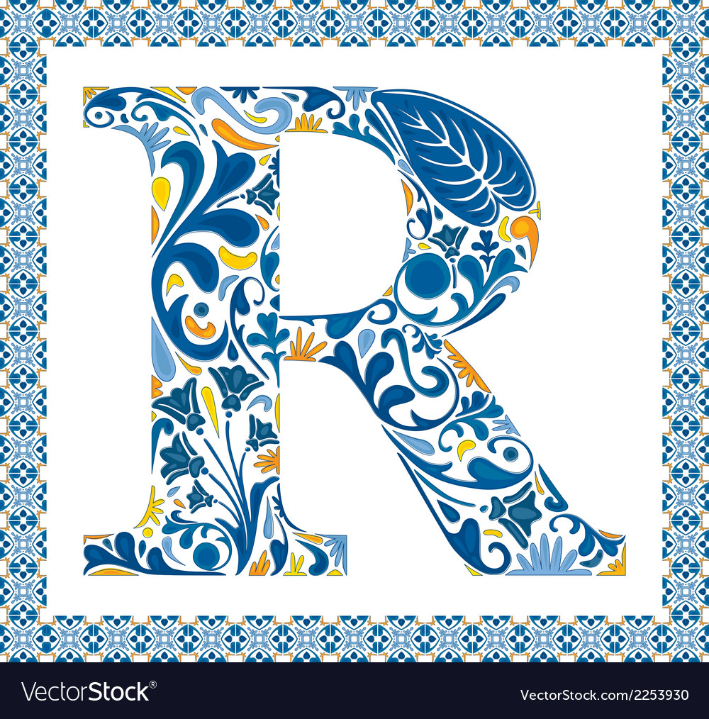Blue letter r vector | Price: 1 Credit (USD $1)