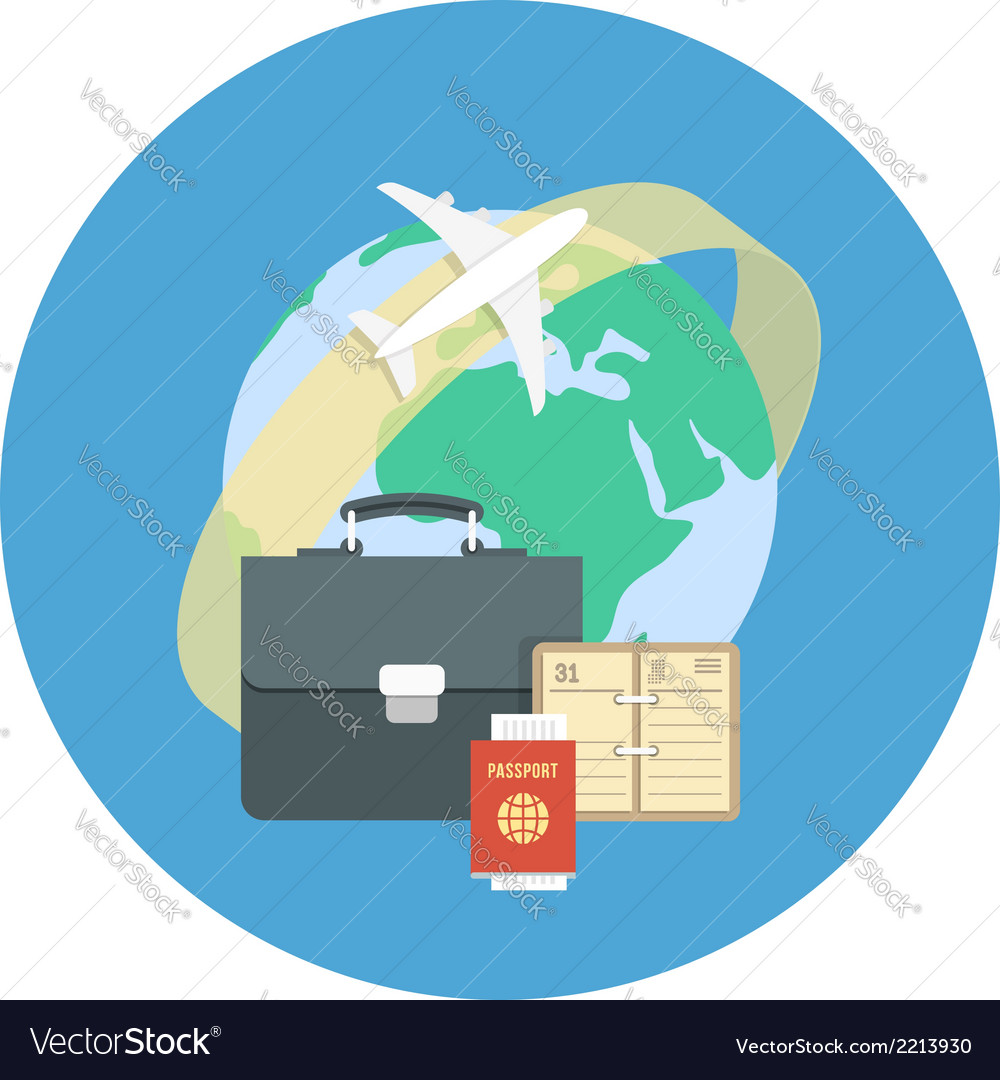 Business traveling concept vector | Price: 1 Credit (USD $1)