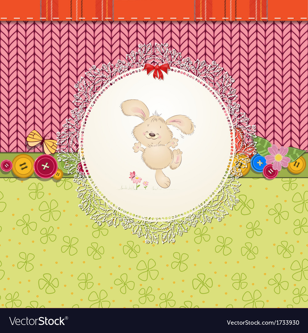 Card rabbit vector | Price: 1 Credit (USD $1)