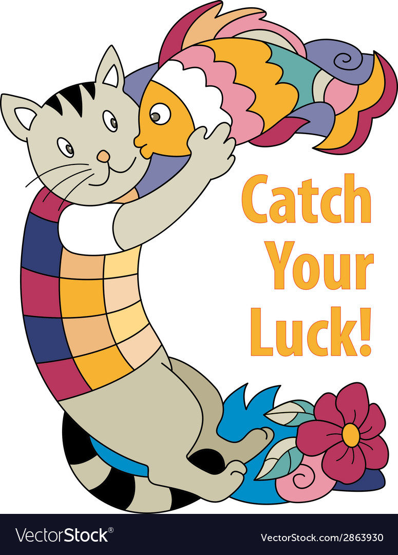 Catch your luck vector | Price: 1 Credit (USD $1)