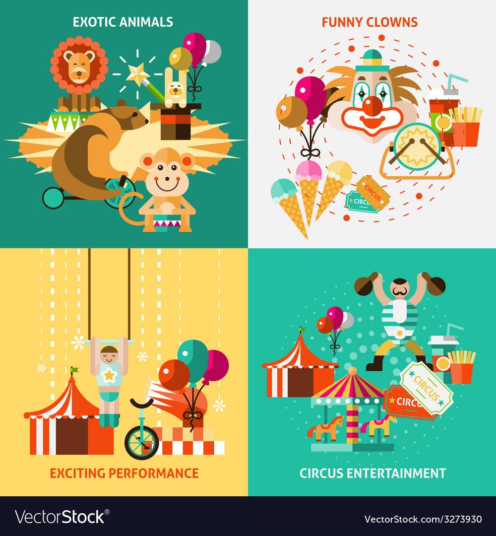 Circus icons flat set vector | Price: 1 Credit (USD $1)