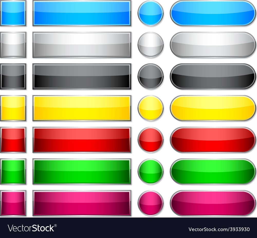 Color blank buttons vector | Price: 1 Credit (USD $1)