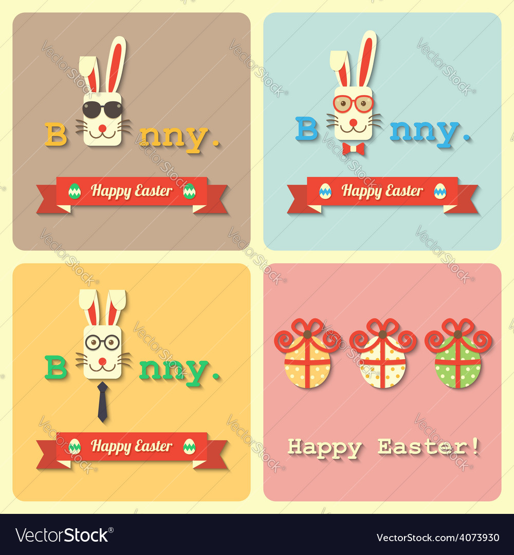 Easter rabbits and eggs vector | Price: 1 Credit (USD $1)