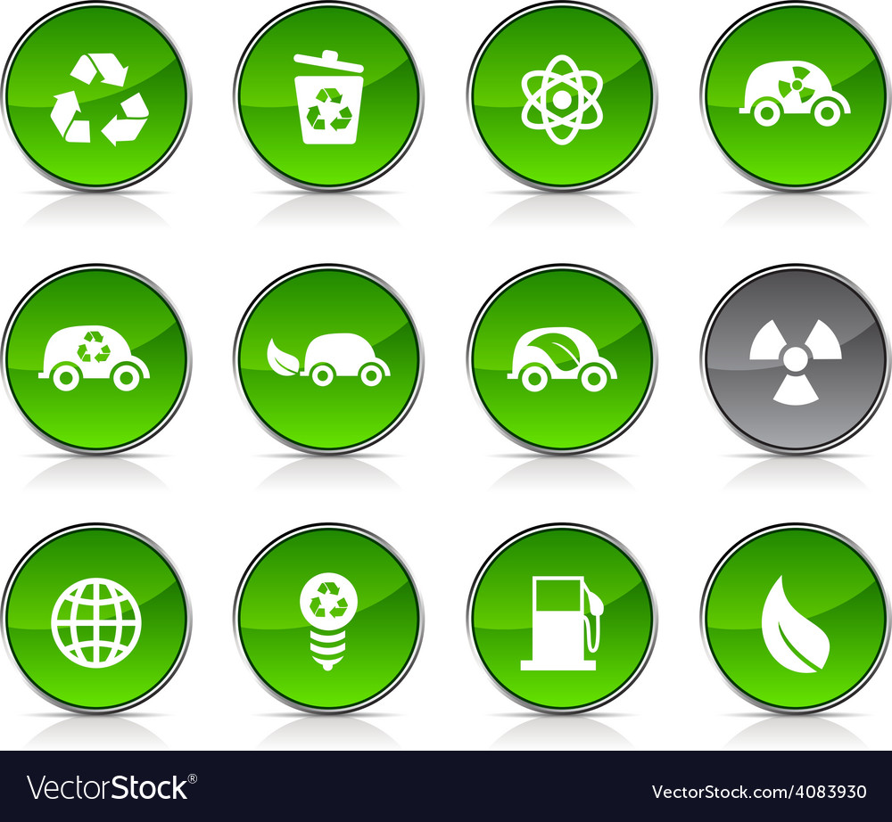 Ecology icons vector   Price: 1 Credit (USD $1)
