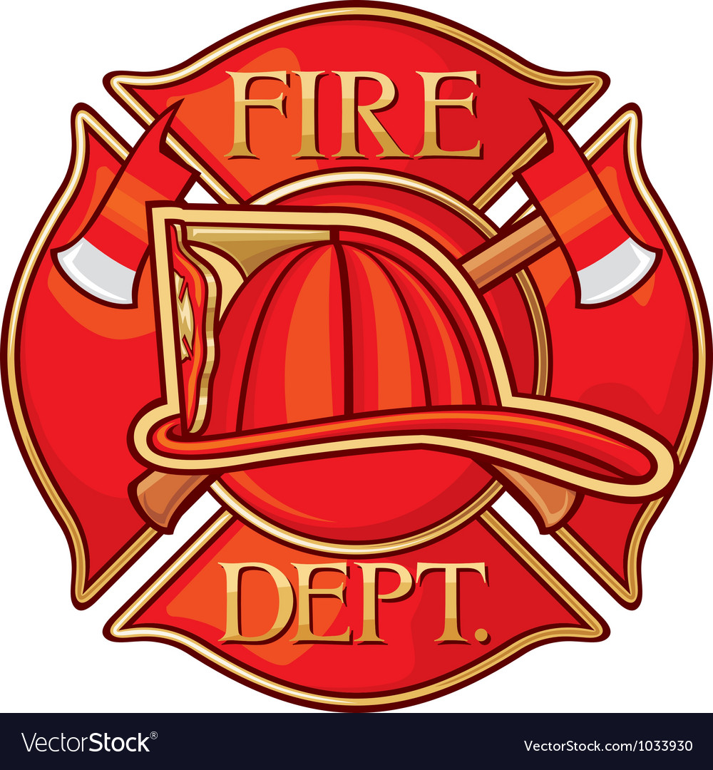 Fire department or firefighters cross symbol vector | Price: 1 Credit (USD $1)