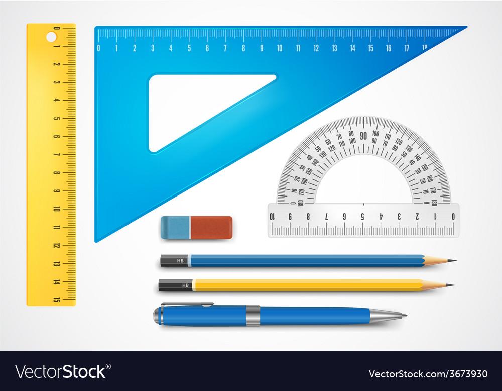 School supplies vector   Price: 1 Credit (USD $1)