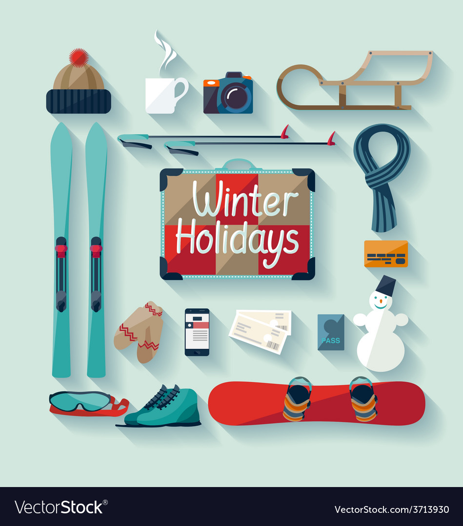 Winter holiday vector | Price: 1 Credit (USD $1)