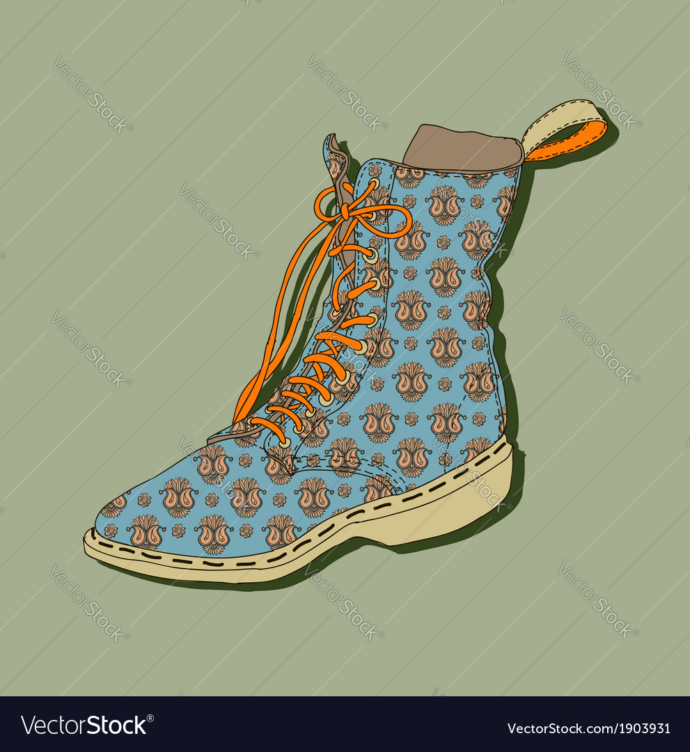 Cartoon shoe vector | Price: 1 Credit (USD $1)