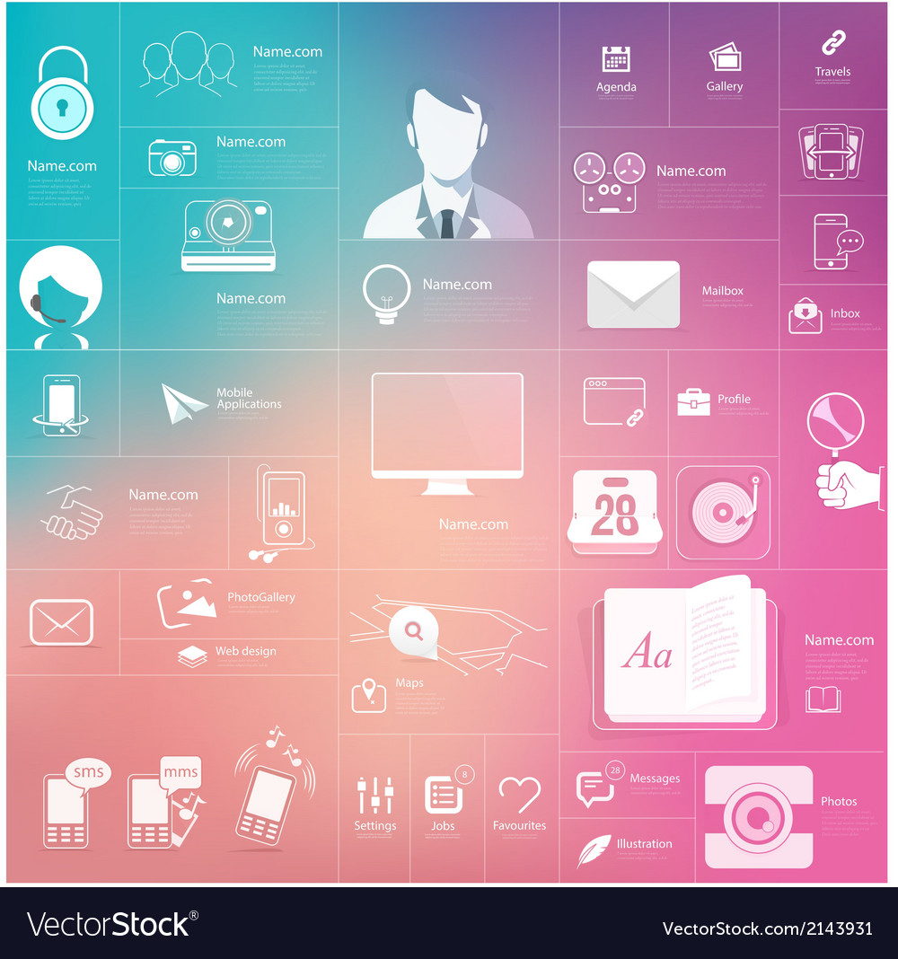 Communication web design elements vector | Price: 1 Credit (USD $1)