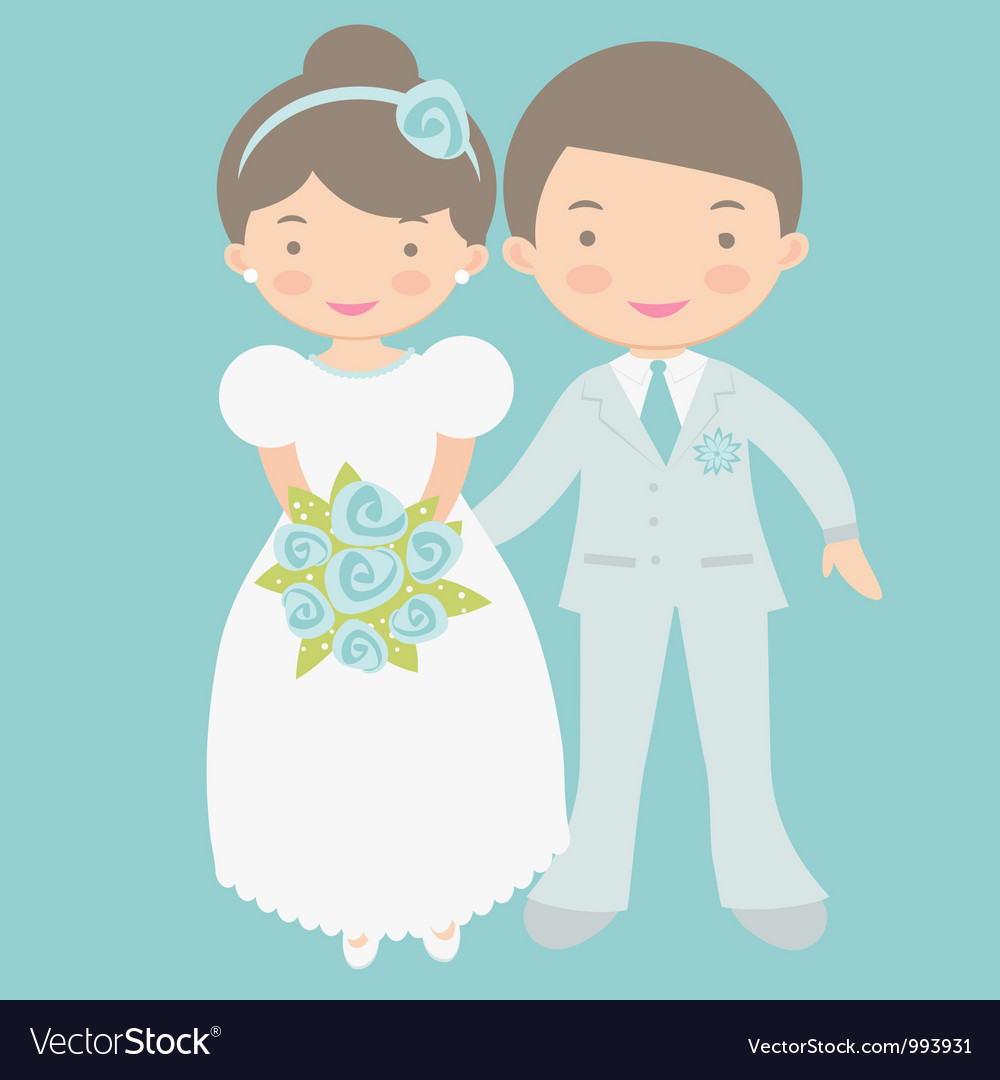 Cute bride and groom vector | Price: 3 Credit (USD $3)