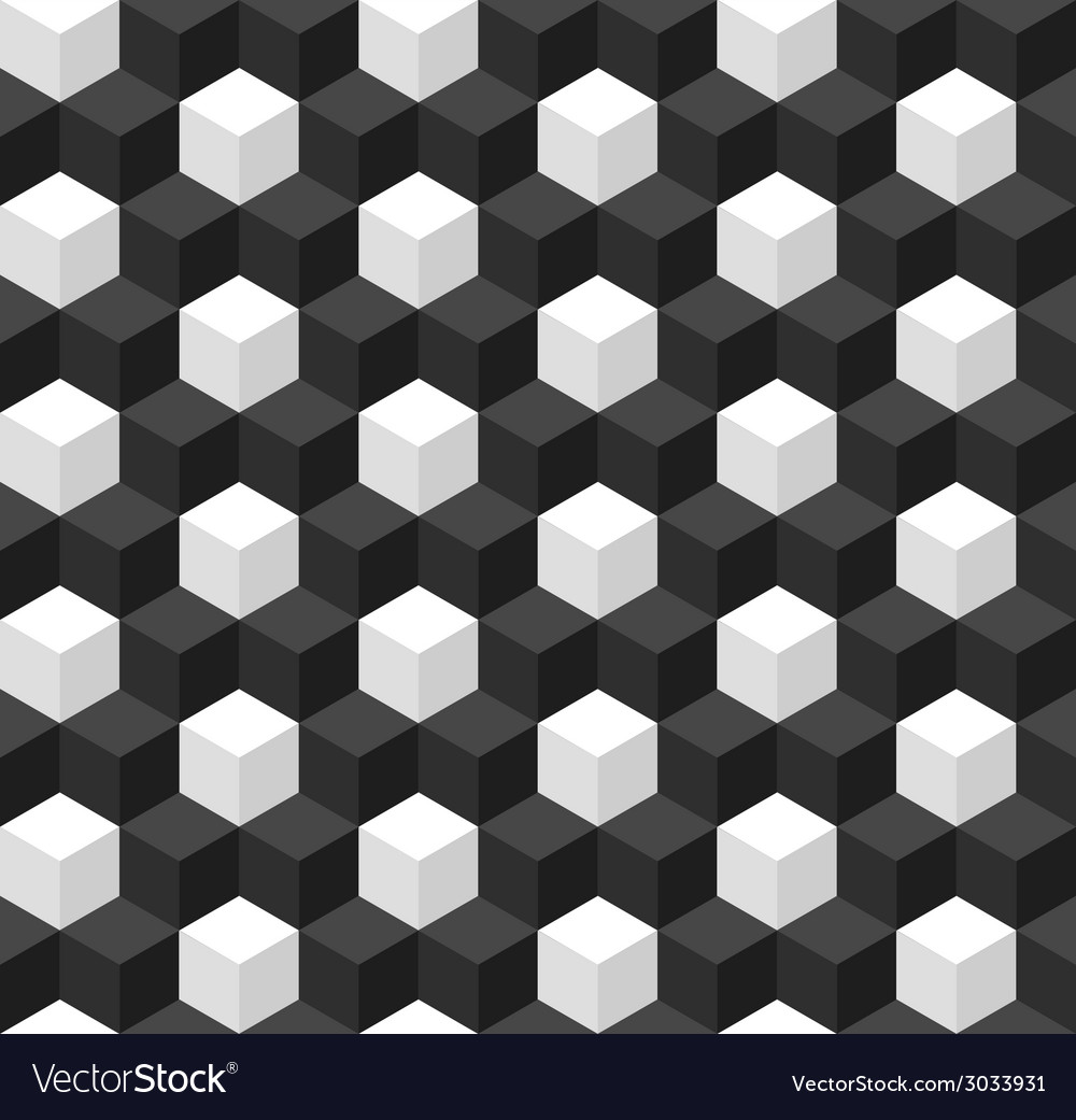 Geometric seamless background with cubes vector | Price: 1 Credit (USD $1)