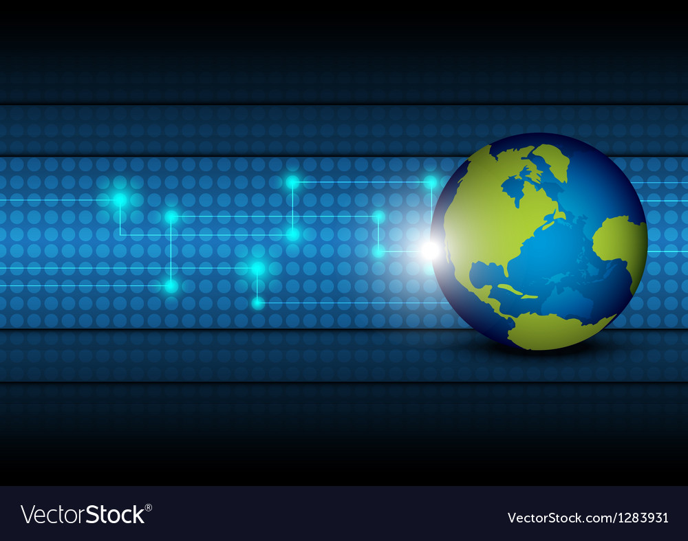 Global network technology background vector | Price: 1 Credit (USD $1)
