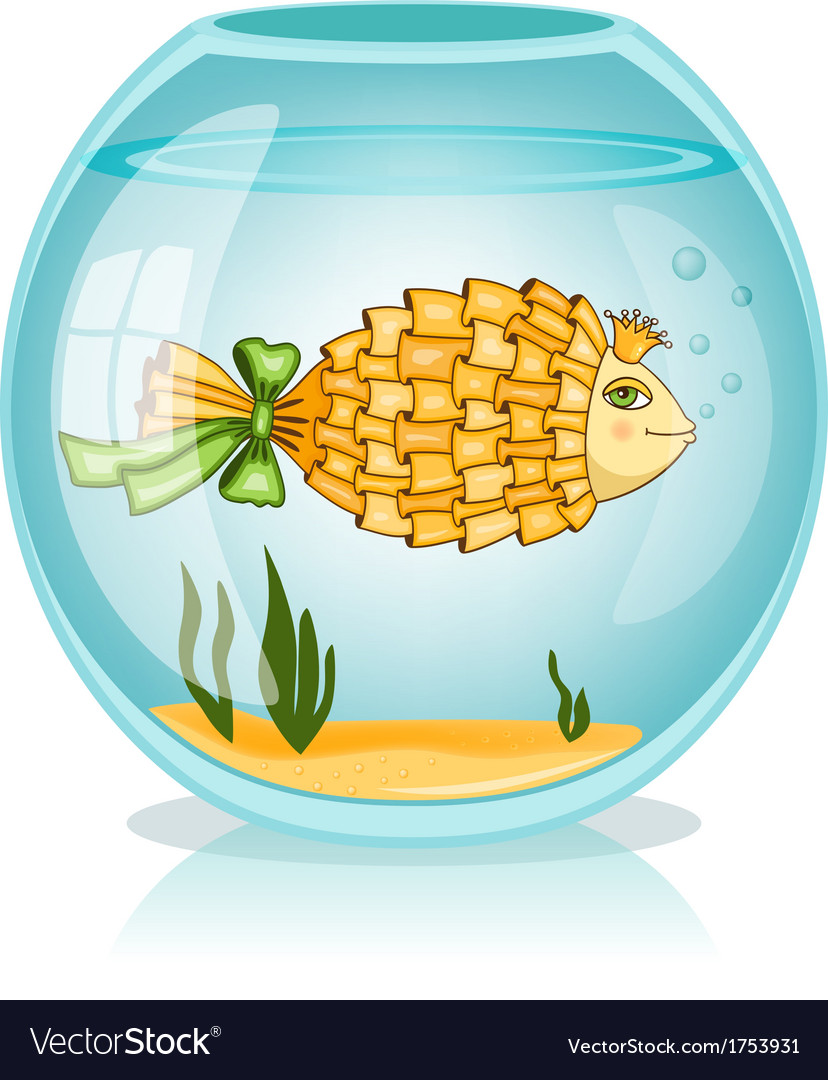 Goldfish in the bowl vector | Price: 1 Credit (USD $1)